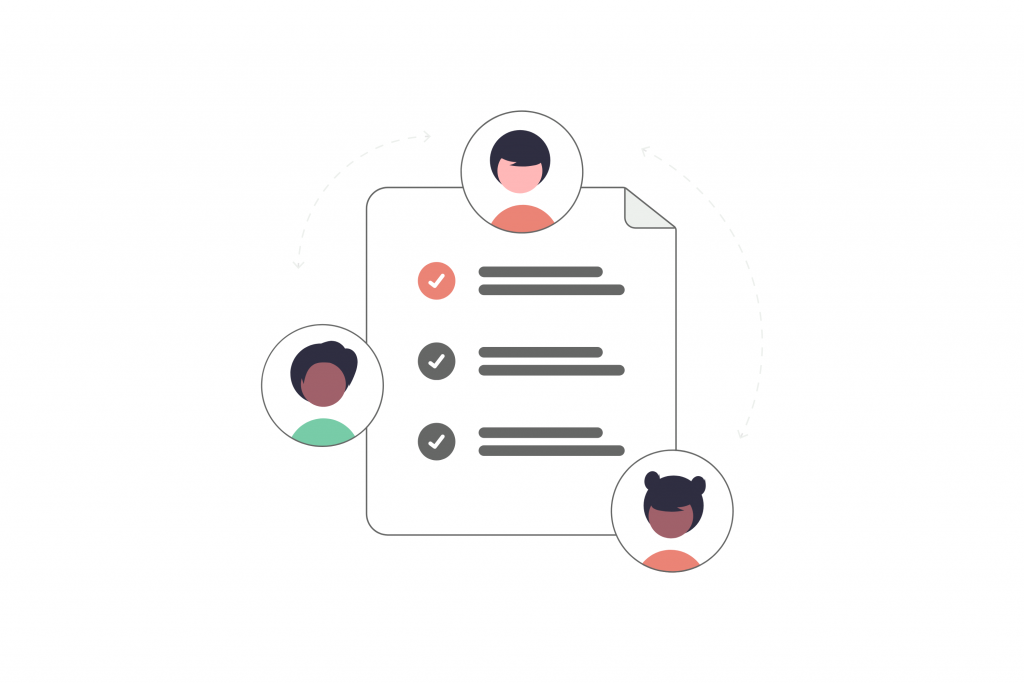 Team reviewing digital marketing report